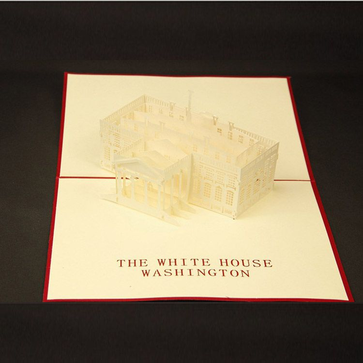 White House 3 D Greeting Card Happy Valentines Day Wedding