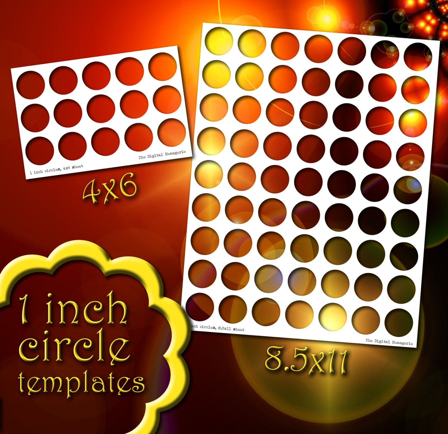 templates 1 inch circles 4x6 and 8 5x11 sheets png photoshop gimp