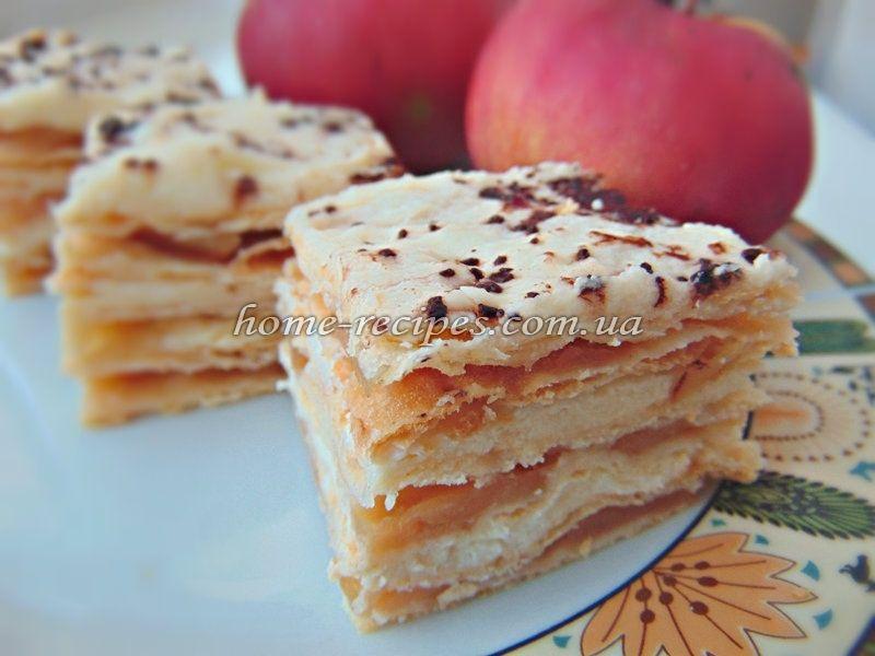 Слойка з яблуками рецепти