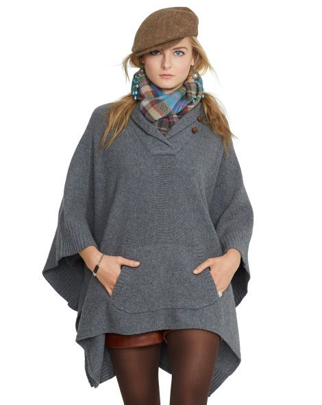 reasonable price new collection fast delivery Wool-Cashmere Poncho - Polo Ralph Lauren V-Necks ...