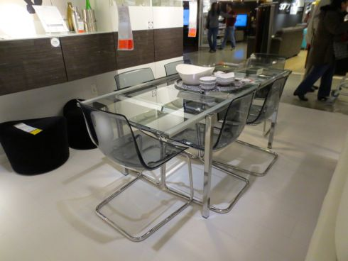 Ikea Glivarp Expandable Glass Dining Table With Images Glass