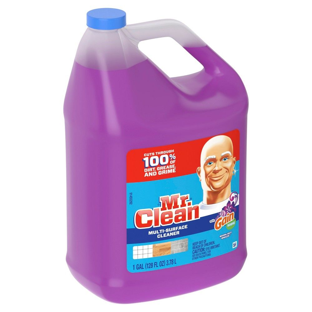 Mr Clean With Gain Moonlight Breeze Liquid Multi Surface Cleaner 128 Fl Oz In 2020 Surface Cleaner Mr Clean Cleaning