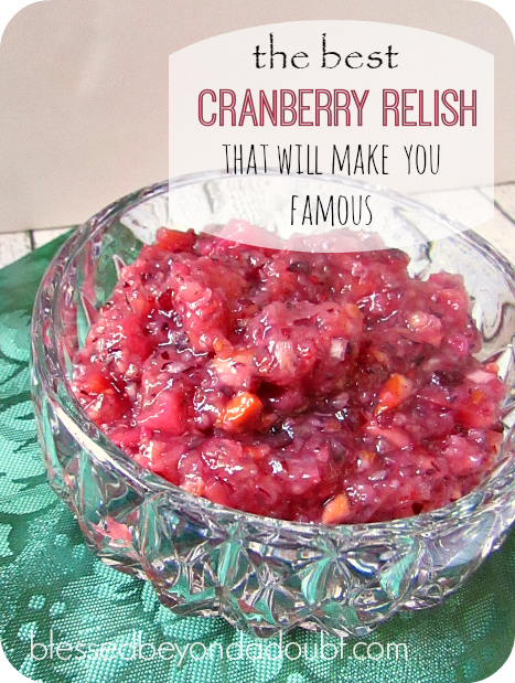 Easy Cranberry Relish Recipe|It will make you famo