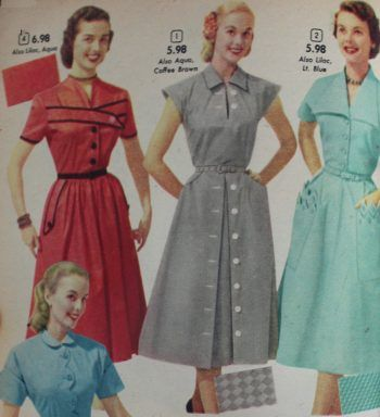 1950s House Dresses And Aprons History House Dress Dresses Vintage Outfits