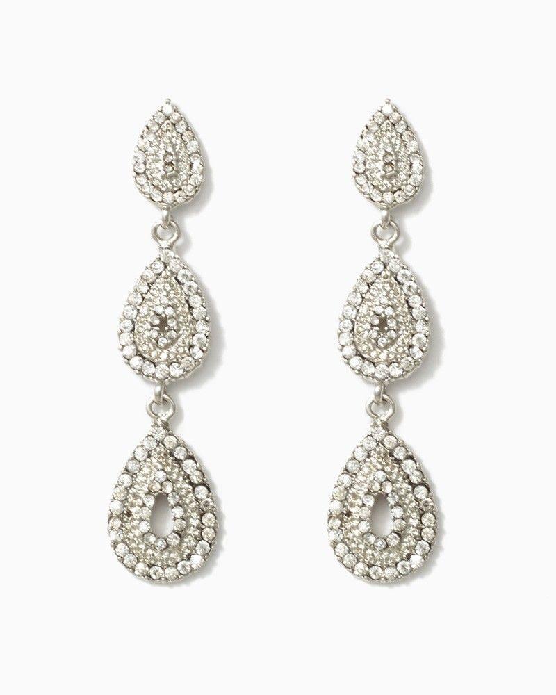 charming charlie Toppling Teardrops Earrings UPC 410006647640