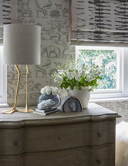printed linen blinds - Sophie Paterson interiors