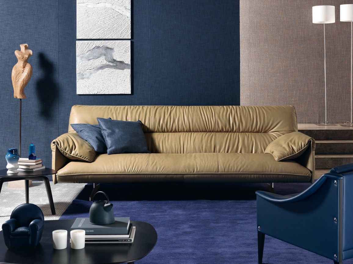 Divano In Pelle Frau Sofa Antohn By Poltrona Frau Design Jean Marie Massaud Art Space