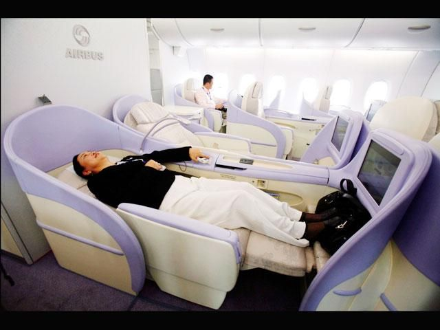 First Class Seat Of Airbus A380 Superjumbo Flugzeug