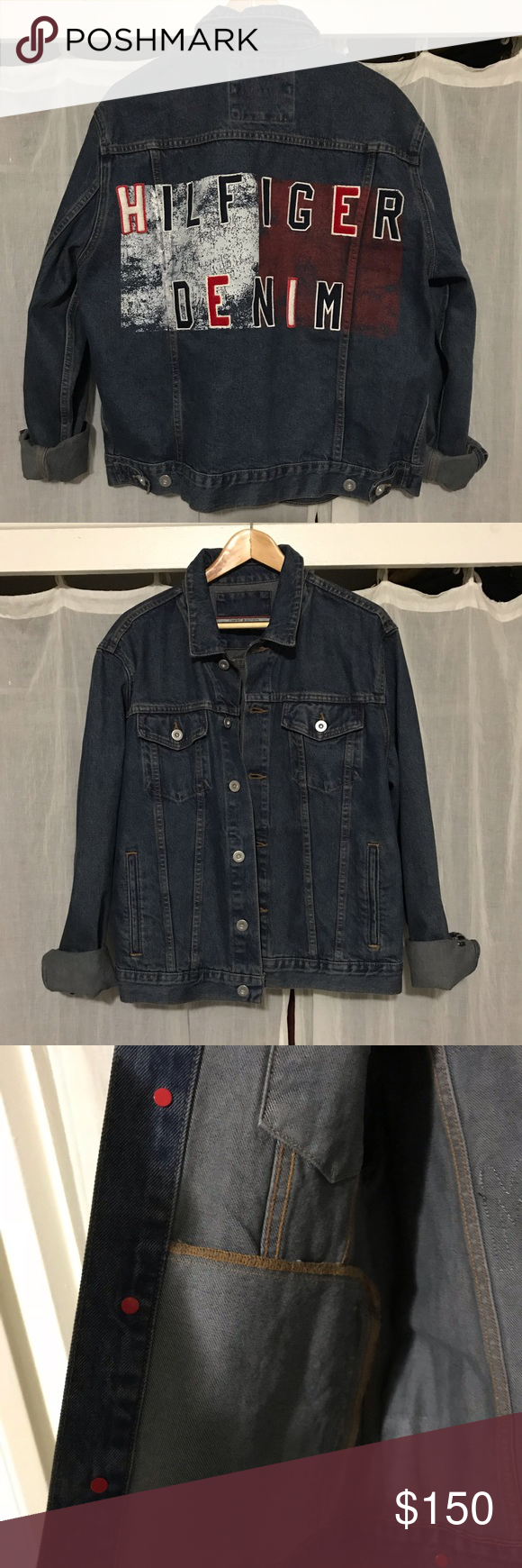 Vintage Tommy Hilfiger Logo Jean Jacket Urban Outfitters Jacket Jackets Tommy Hilfiger Jackets [ 1740 x 580 Pixel ]