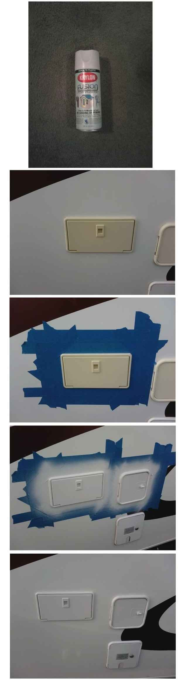 A Little Spraypaint Will Help Those Sun Faded Plastic Parts On Your RV Look  Like