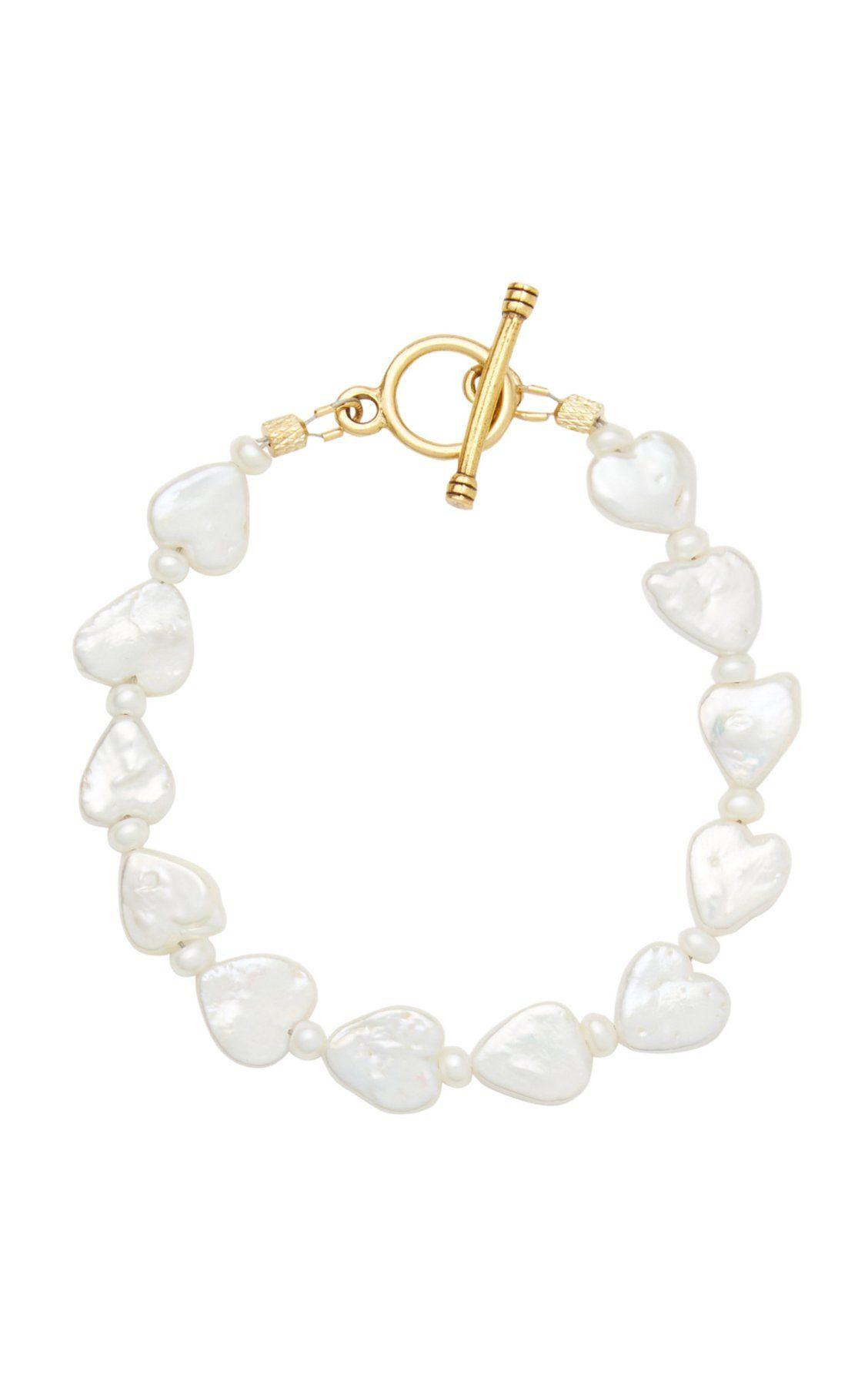 Love Struck Pearl Bracelet By Brinker Eliza Moda Operandi In 2020 Beautiful Jewelry Necklaces Pearl Bracelet Jewelry