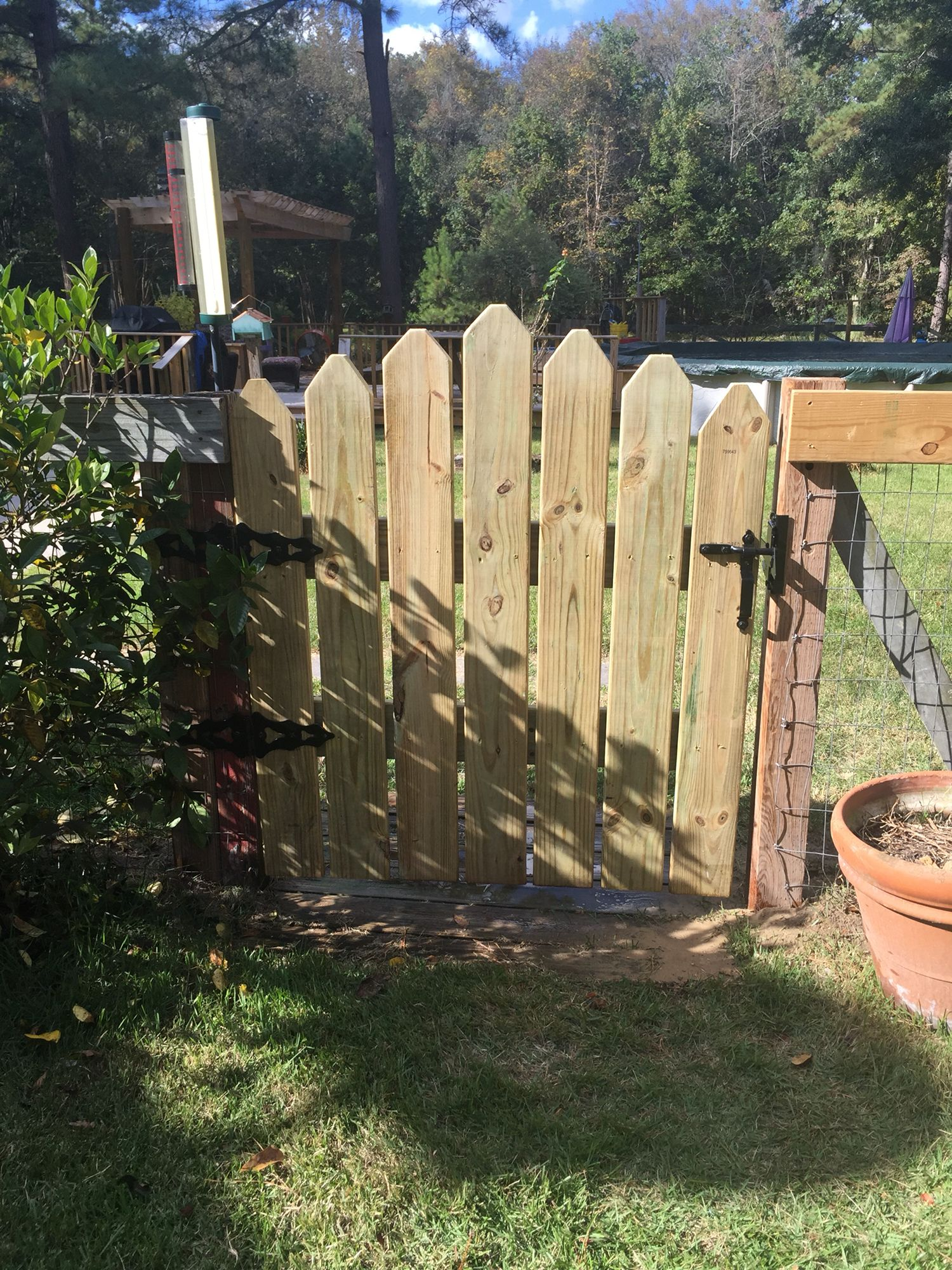 New Gate Made From Decking Boards Deck Boards Deck Backyard