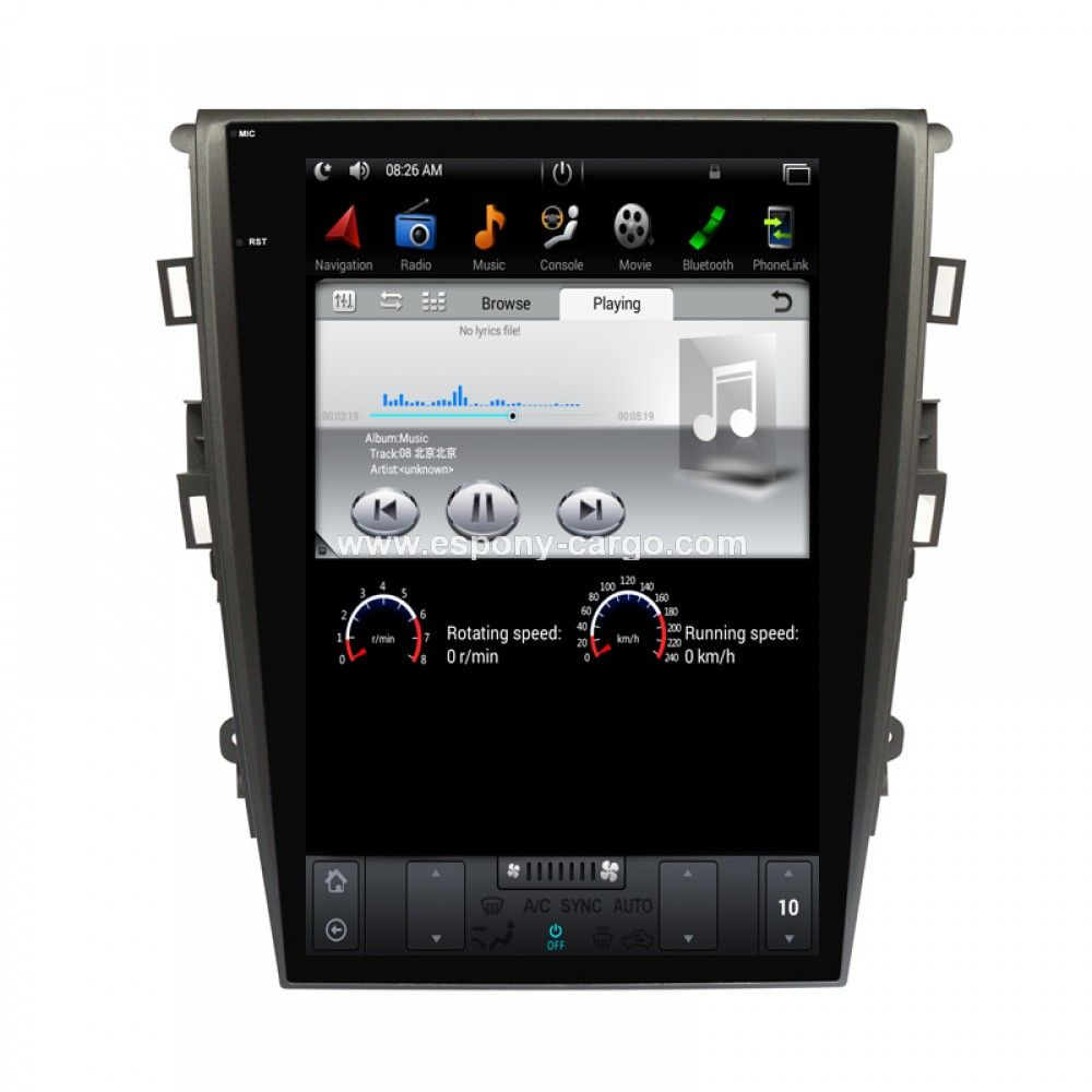 Tesla Style Vertical HD Screen Android 6.0 Car GPS