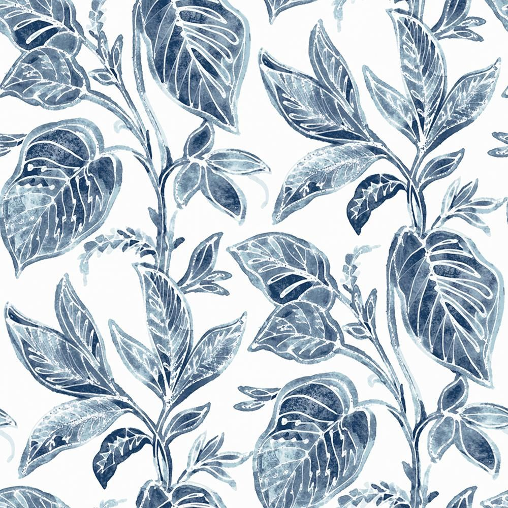 Chesapeake Mangrove Blue BoTanical Paper Strippable Roll (Covers 56.4 sq. ft.)-3120-13625 - The Home Depot