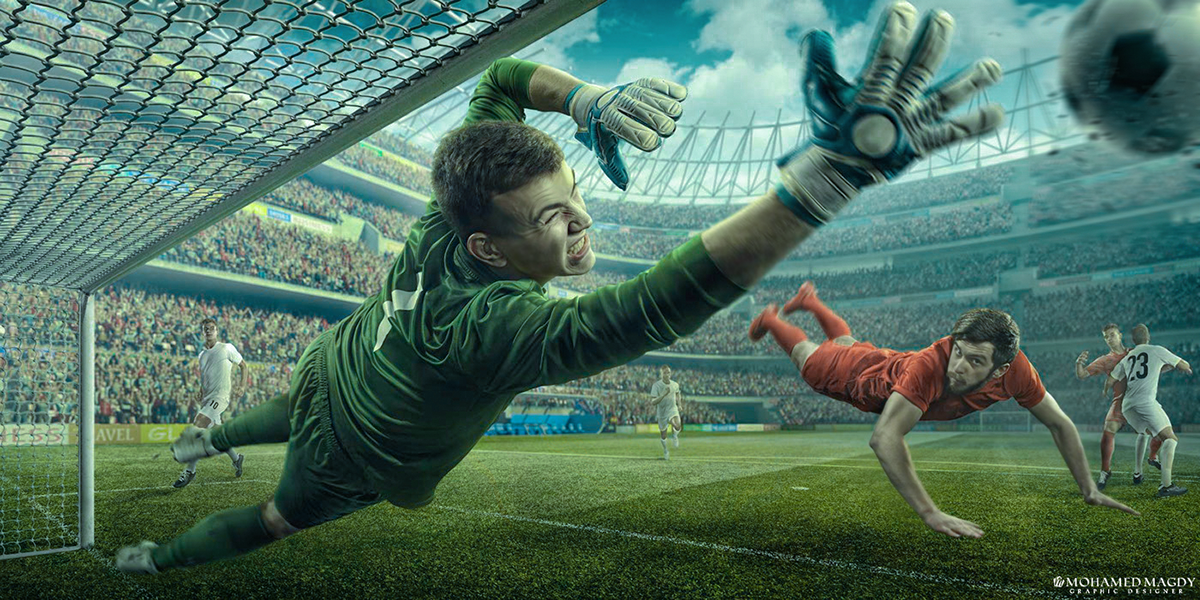 Goal Keeper Retouching Edit On Behance Goalkeeper Sport Portraits Soccer