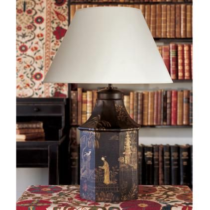 Bohea Large Handpainted Table Lamp