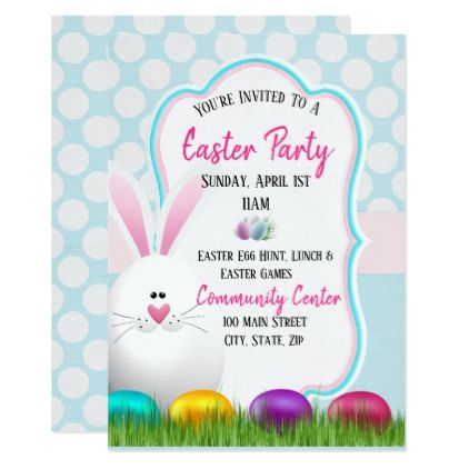 Easter Party Invitation Card Easter party, Party invitations and - invitation card event