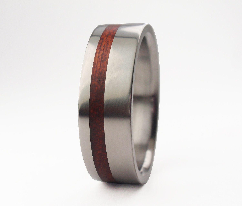 14k Solid Yellow Gold With Koa Wood Inlay Wedding Ring 7mm Makani Hawaii Hawaiian Jewelry Wood Wedding Ring Hawaiian Wedding Rings Heart Shaped Wedding Rings