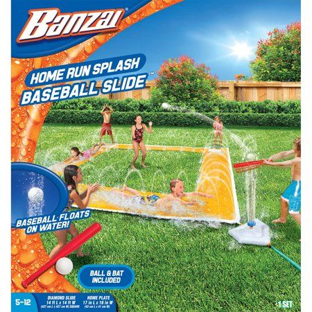 Banzai Home Run Splash Baseball (Racing Slide, Bat
