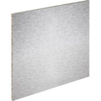 Crédence Stratifié Façon Inox Magnétique H60 Cm X L240 Cm