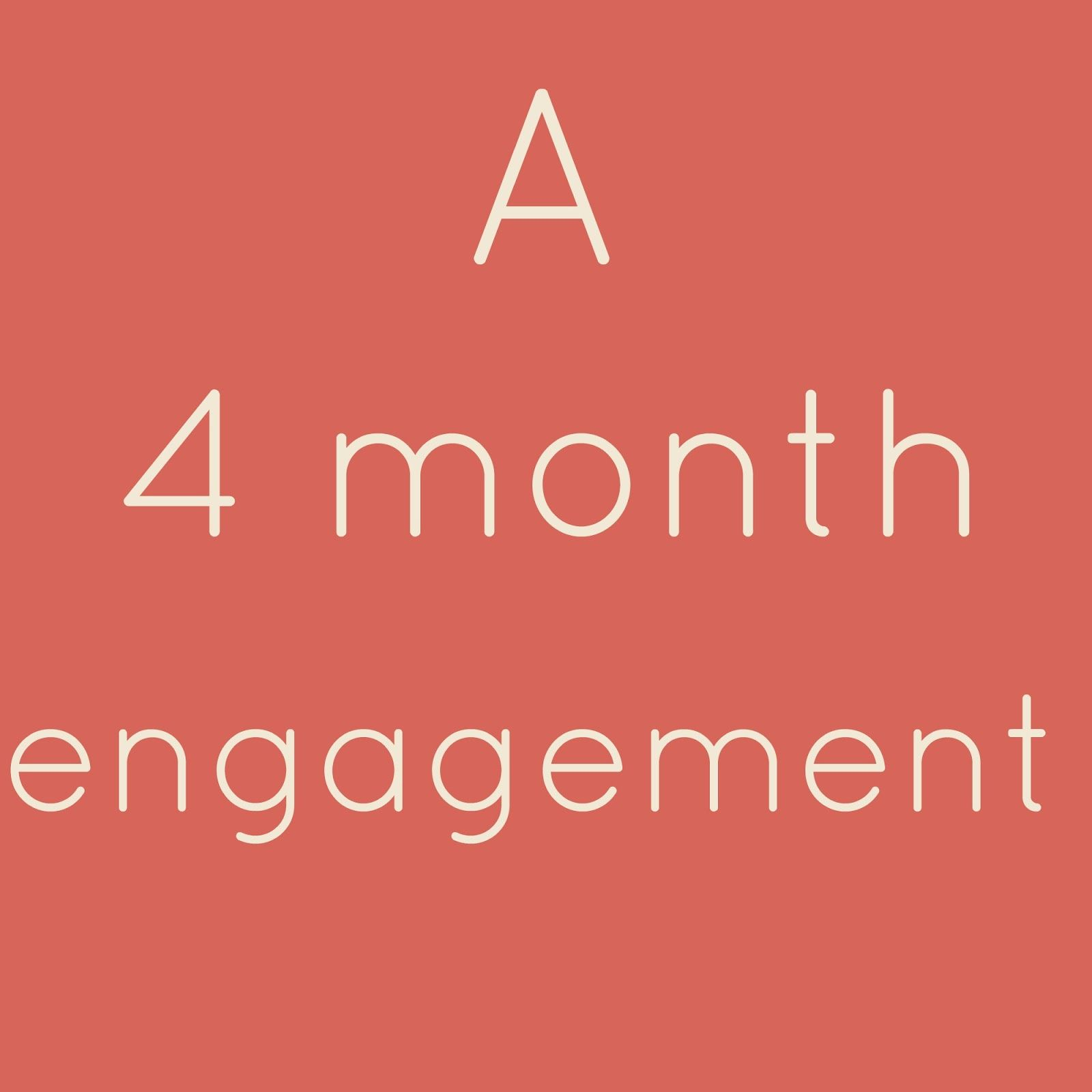 4 Month Engagement Wedding Planning Checklist - Just In Case