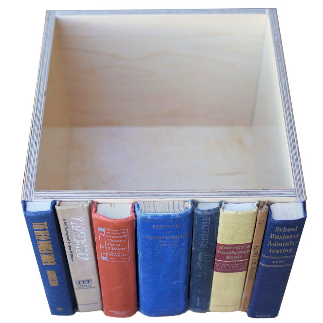 Transistors, The Original Modern Library Storage Bin, Stylish Storage for your much-loved clutter. $58.00, via Etsy.
