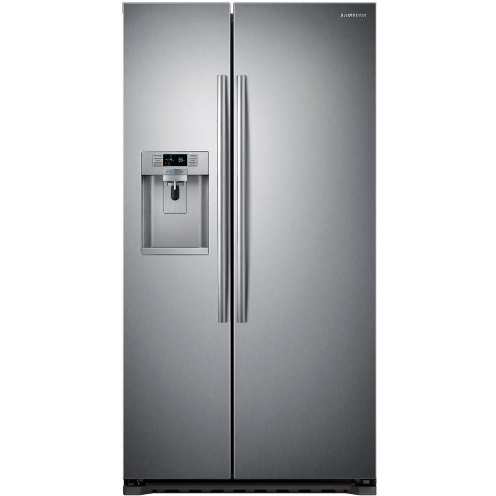 Energy Star Kitchen Appliances Samsung 223 Cu Ft Side By Side Refrigerator In Stainless Steel