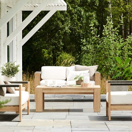 Montpelier Wood U0026 Rope Patio Furniture Collection   Smith U0026 Hawken™ : Target