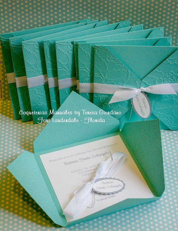 Coqueterias Manuales Elegantes Invitaciones De 15 Años