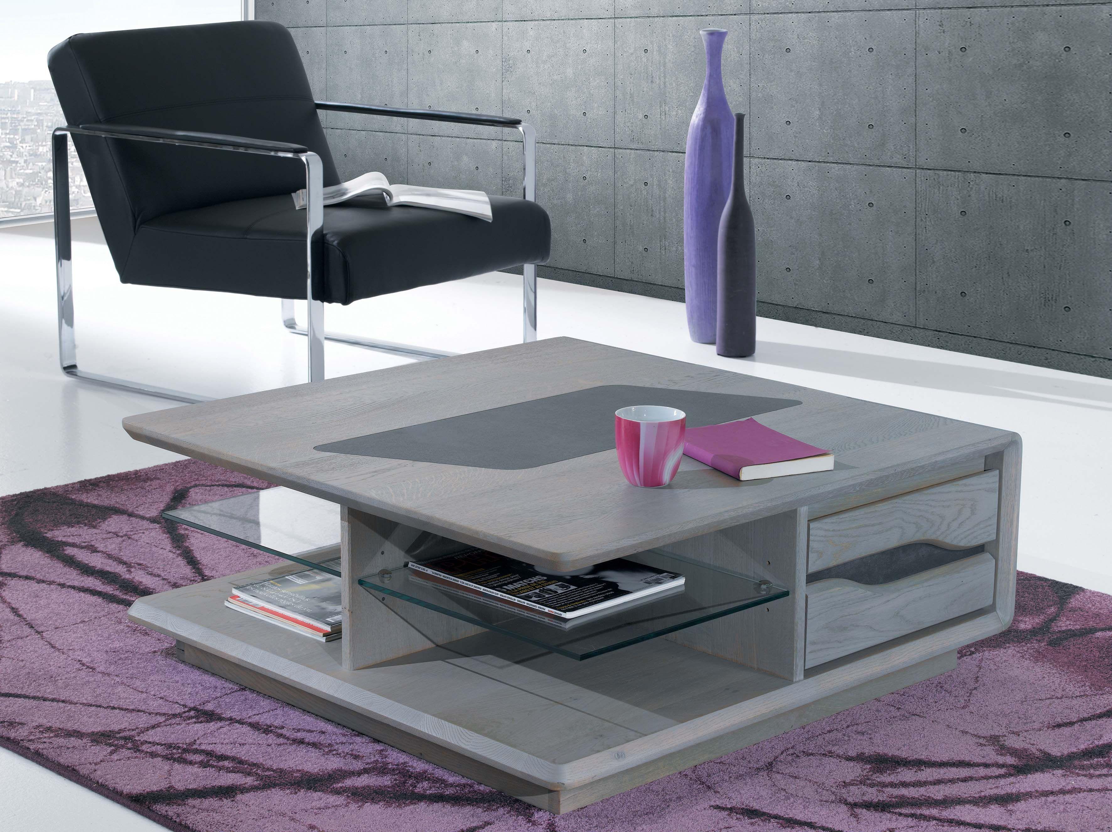 Sejour Ceram Table Basse Carree 2 Tiroirs Largeur 90 Cm Hauteur 35 Cm Profondeur Table Basse Table Basse Contemporaine Table A Manger Avec Rangement