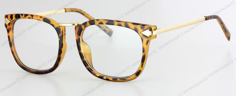 New Fashion Clear Lens Glasses Leopard Frame UV400 Retro Vintage lunettes in Clothes, Shoes & Accessories, Women's Accessories, Sunglasses & Eyewear | eBay