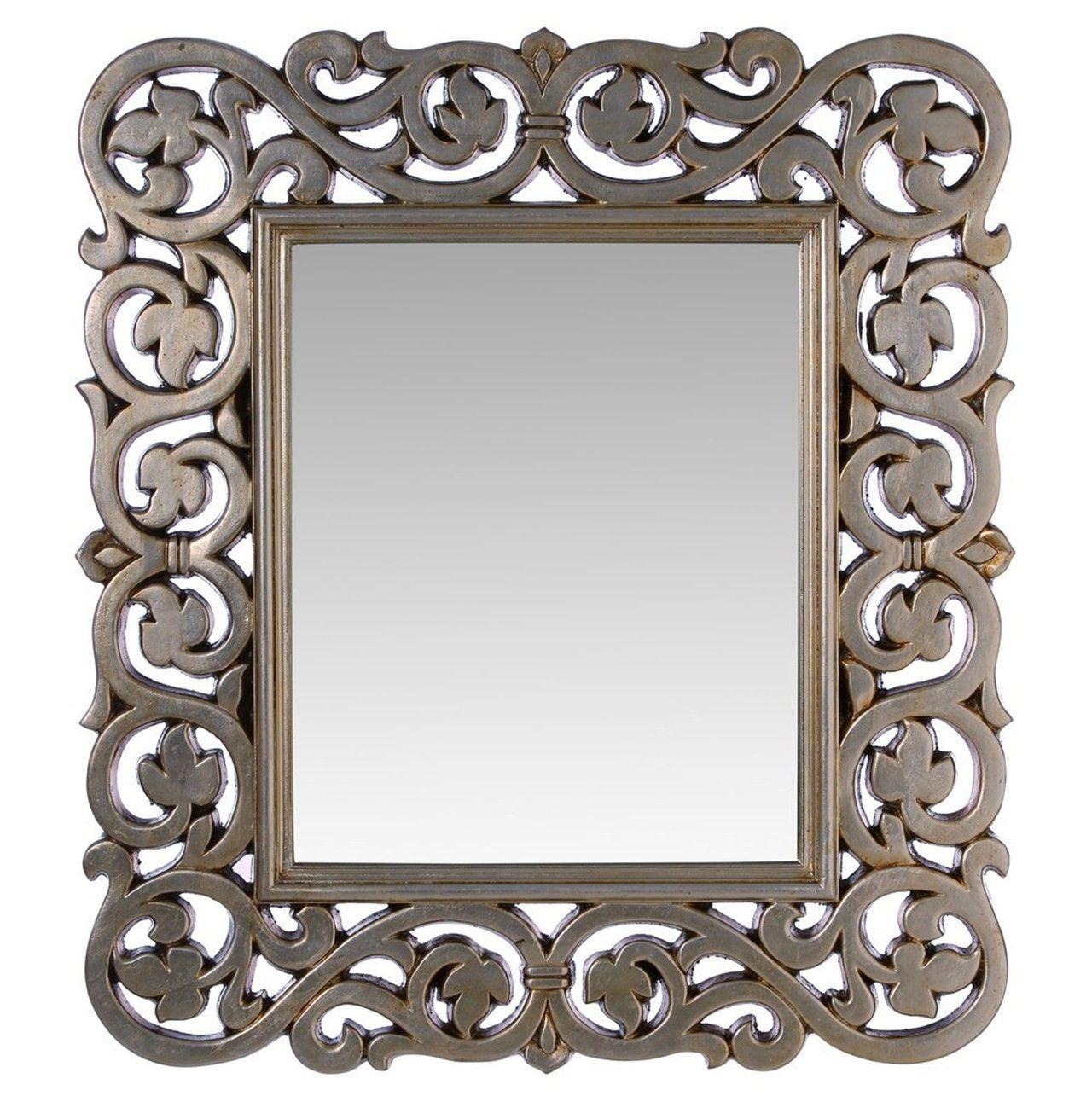Espejo con marco color plata enredadera un marco de for Espejos color plata