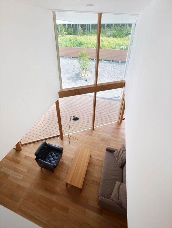Modernes Architekten Haus deckenhohe fenster