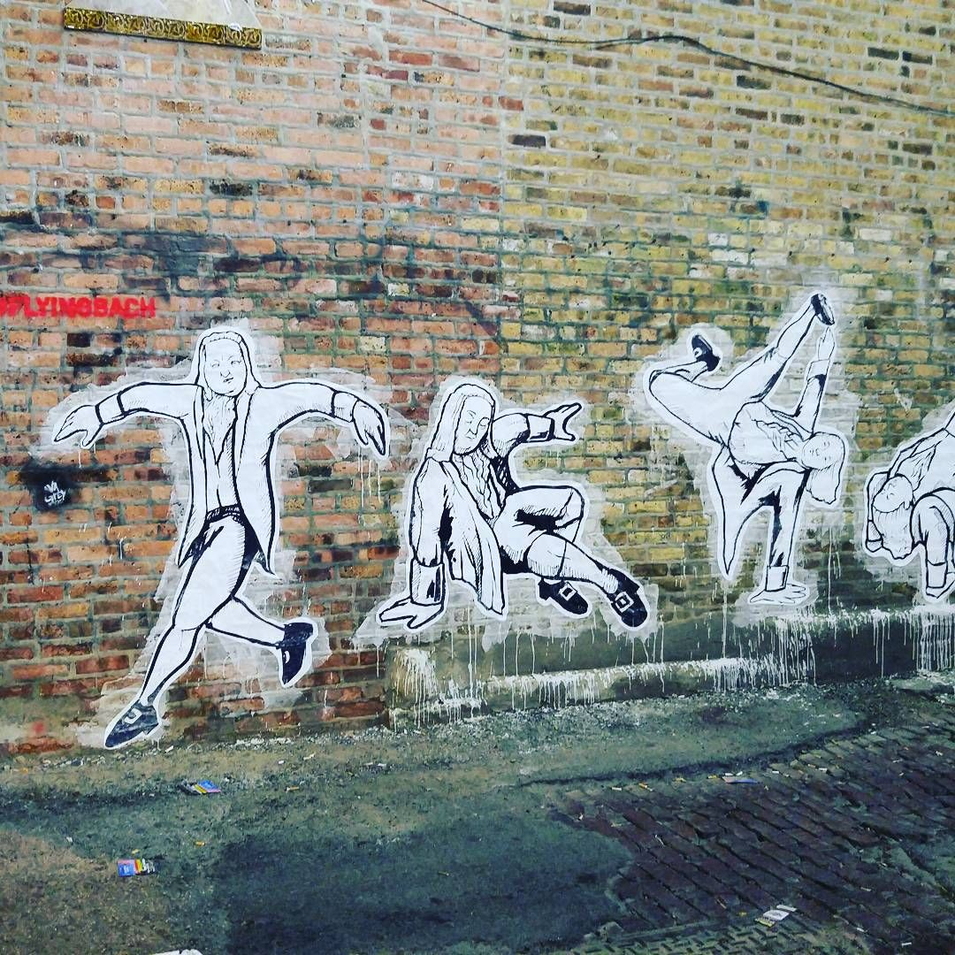 """old shot #flyingbach #avagrey #czrprz #streetart #chicagostreetart #streetartchicago #pasteups #stencil @ava_grey @no_vwlz"""