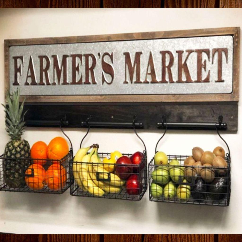 diy farmhouse kitchen decor baskets