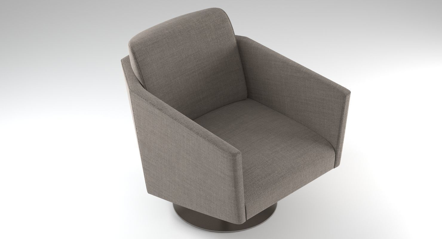 Holly Hunt Jett Lounge Chair 3d Model Max Obj Fbx Mtl Tga Mat 2