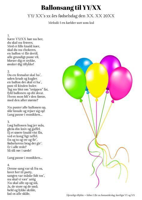 Ballonsangen til fødselaren   Fødselsdag humor