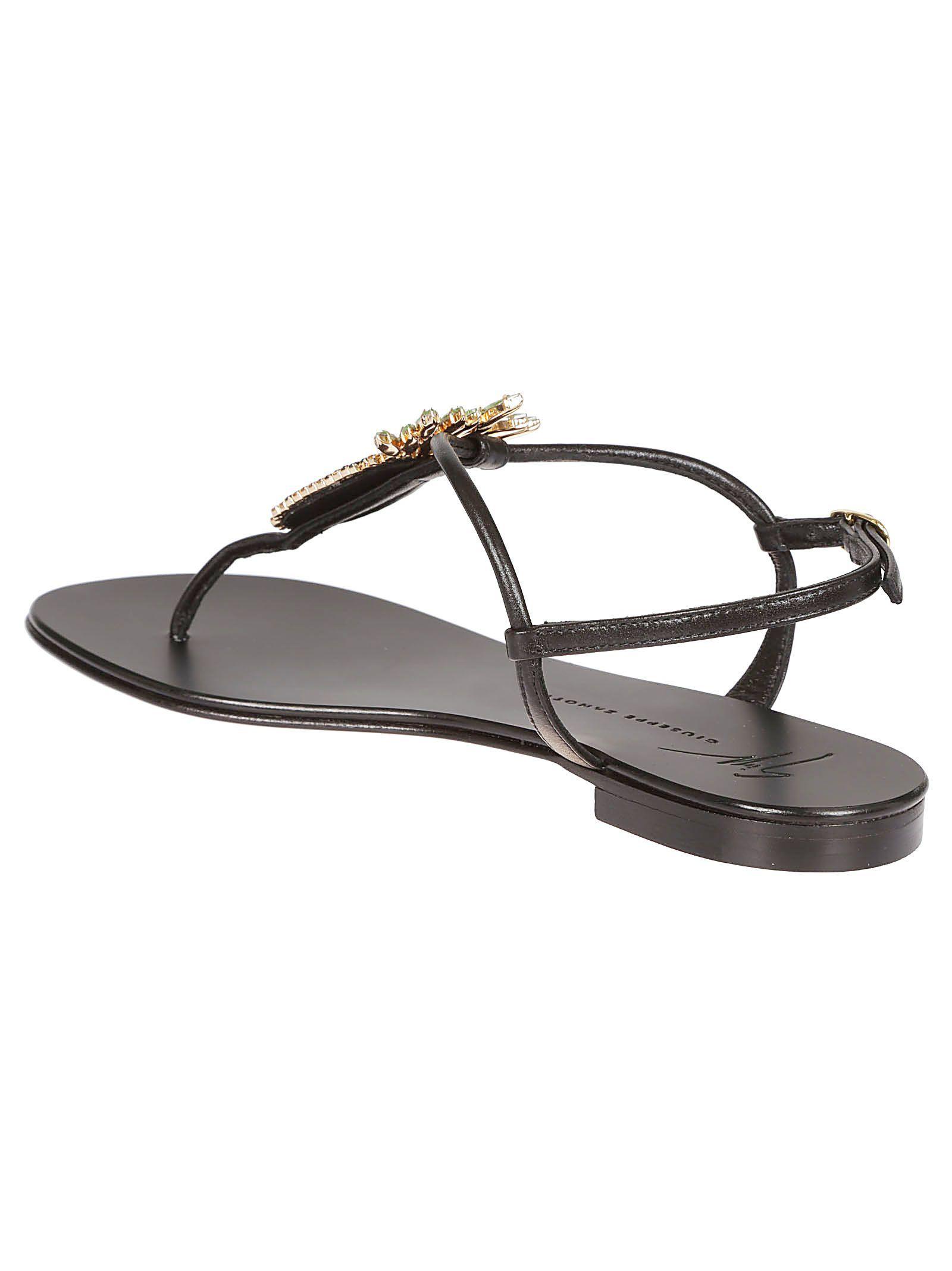 8cf5744e5b08a GIUSEPPE ZANOTTI | Giuseppe Zanotti Giuseppe Zanotti Giuseppe Zanotti  Embellished Pineapple Flat Sandals #Shoes #Sandals #GIUSEPPE ZANOTTI