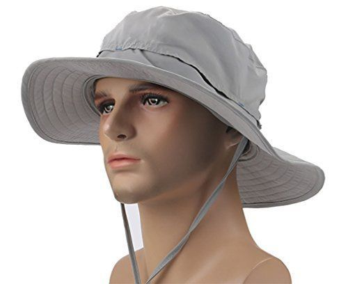 Crazy Cart Mens Womens Wide Brim Caps Quick-dry UPF50+ Hats Headwear  Clothing  CrazyCart 4b198461d71e