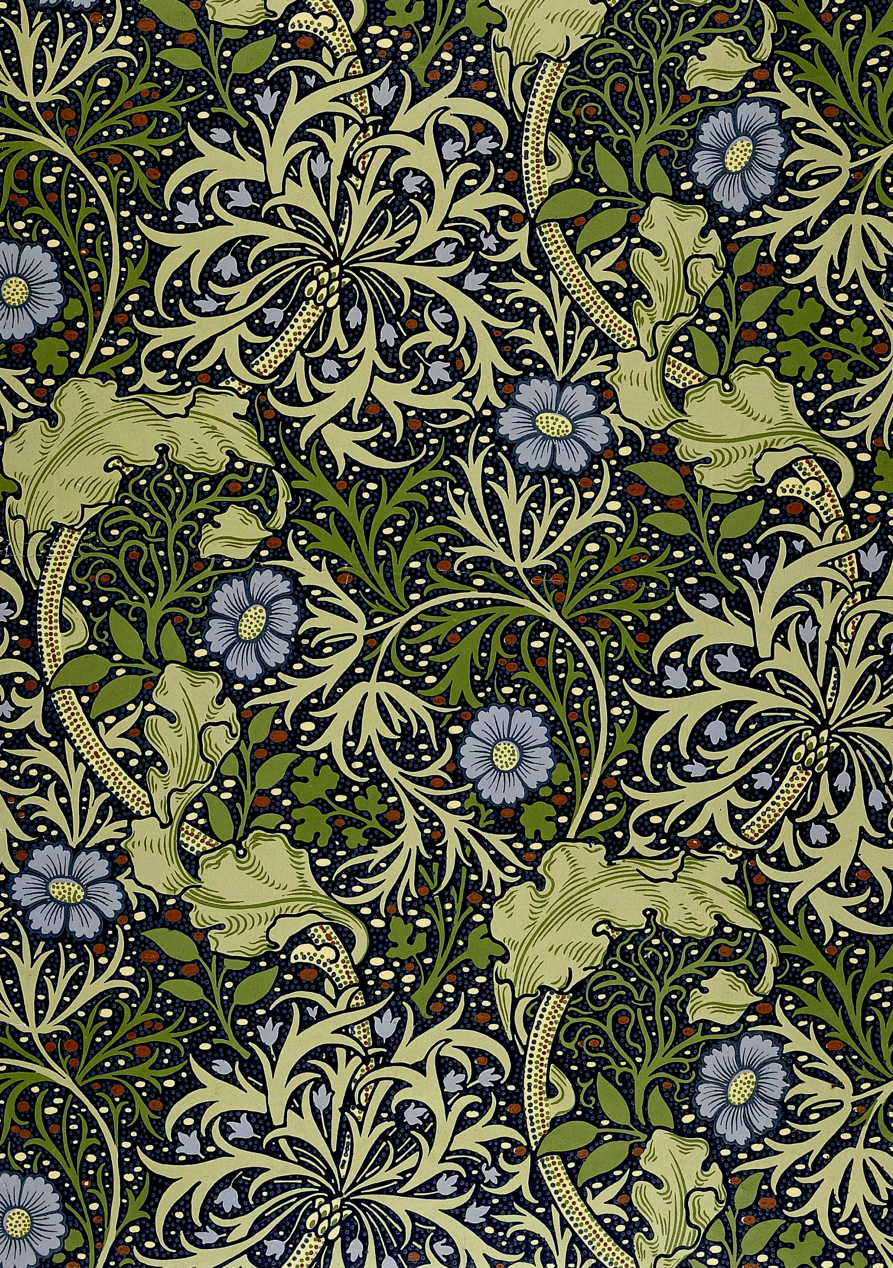 Seaweed Designed By John Henry Dearle For William Morris 1901 William Morris Designs William Morris Wallpaper William Morris Art