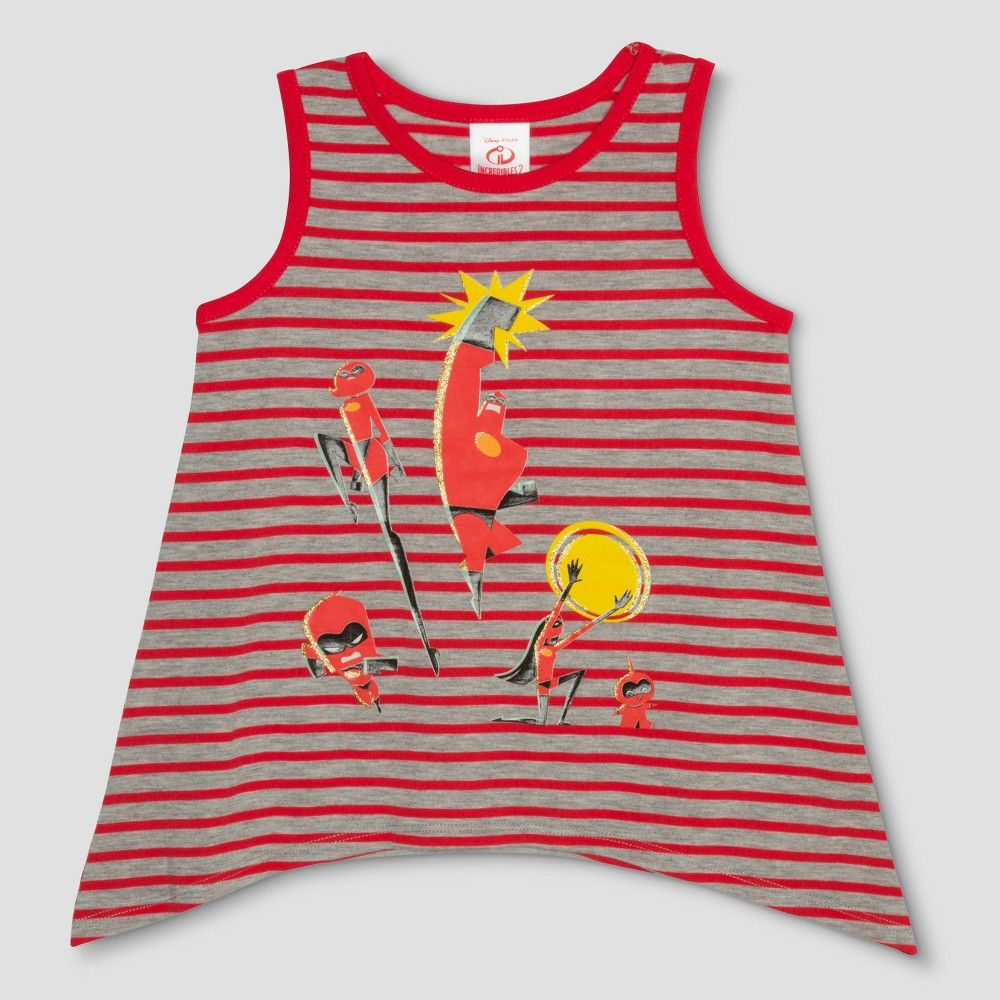 c953b3ed Help your incredible girl discover her super powers each day with the help  of The Incredibles 2 Family Tank Top. The stylish horizontal striping and  cool ...