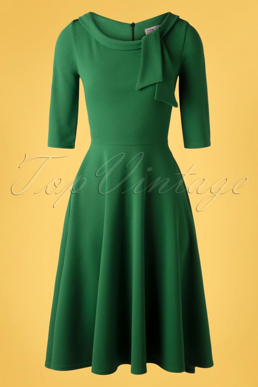 50s Beverly Swing Dress In Emerald Green Swing Dress Dresses Wonderful Clothes [ 1500 x 1000 Pixel ]