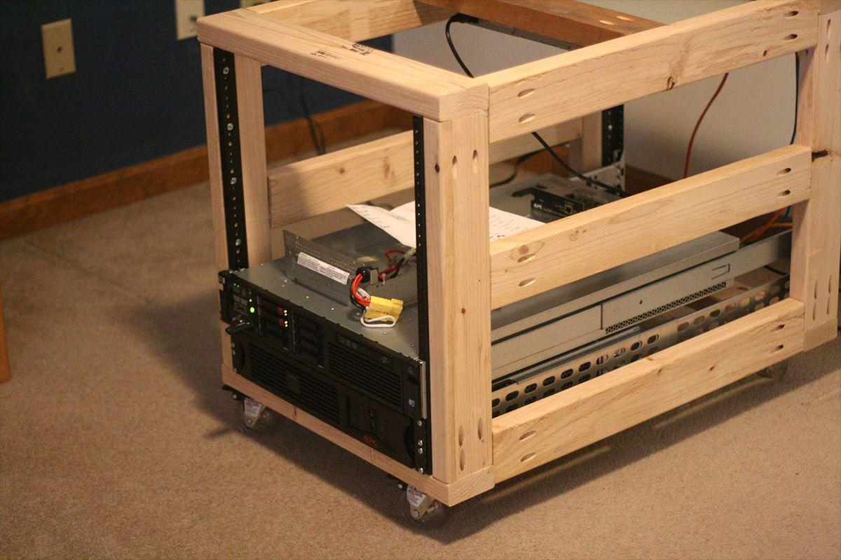 Diy server rack plans server rack diy rack woodworking