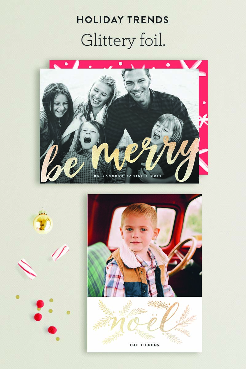 Shine bright this holiday with Minted\'s Glittery Foil Holiday Card ...