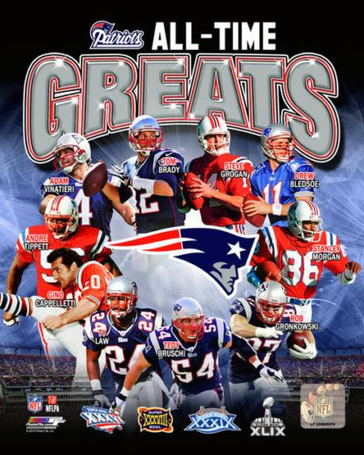 New England Patriots 4x Super Bowl Champions All Time Greats Photo Select Size Patriots New England Patriots New England Patriots Football