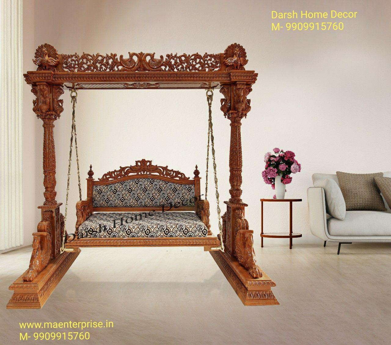 Pooja Mandir For Home Temple In India Usa Australia Ma Enterprise In 2020 Wooden Swings Room Swing Living Room Wood #swings #for #living #room #india
