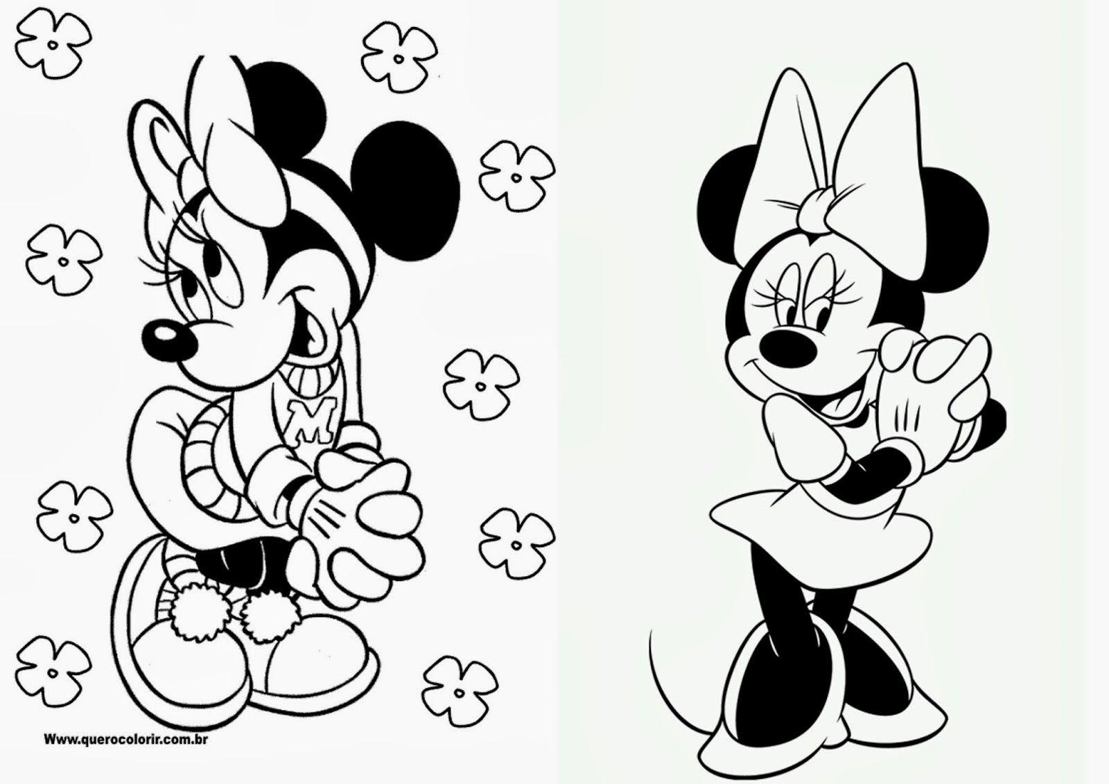 Minnie Libro Para Colorear Para Imprimir Gratis En 2020 Colorear Disney Libros Para Colorear Dibujos Mickey