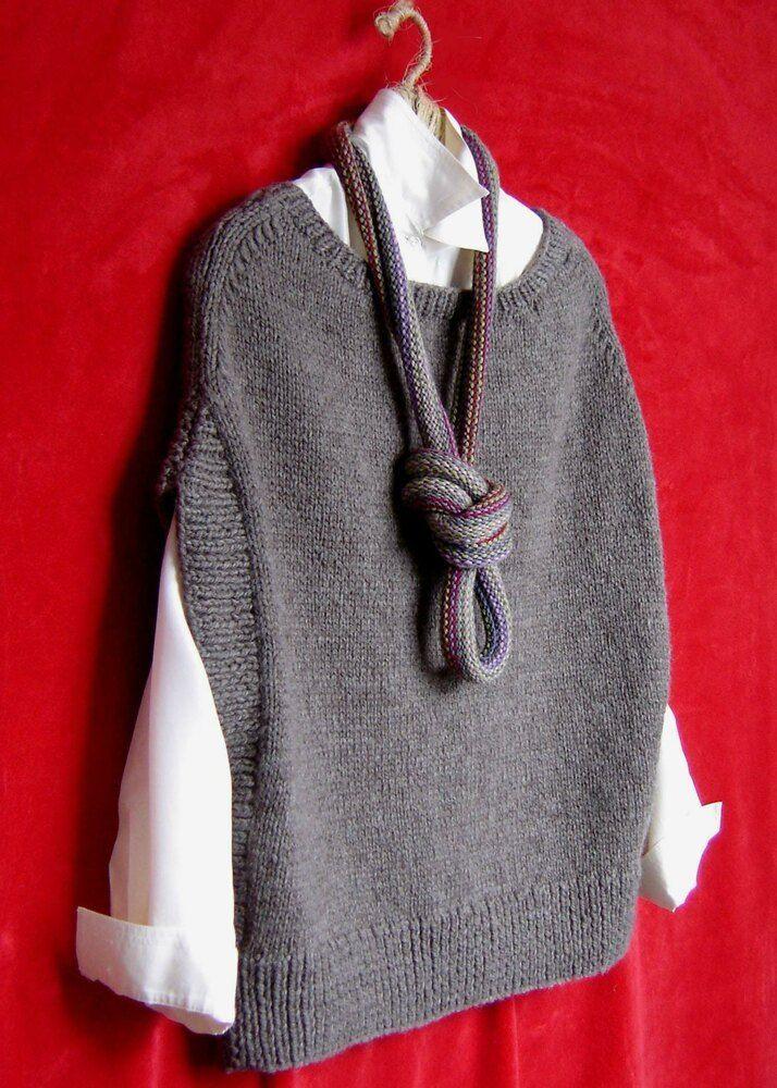 Photo of ML164 Flatter Me Vest Knitting pattern by maddycraft