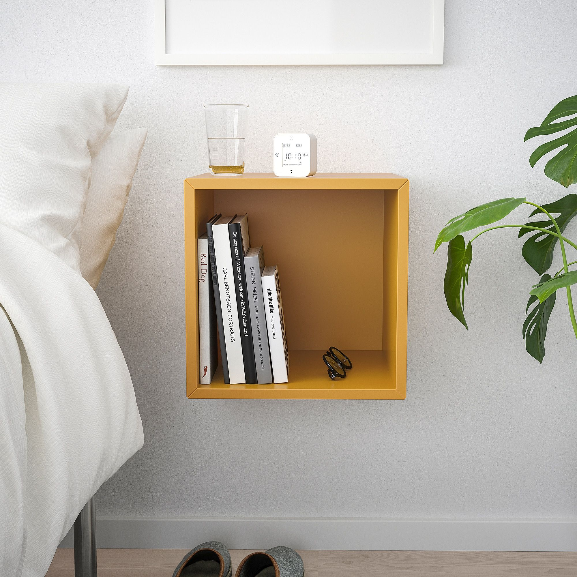 Eket Wall Mounted Shelving Unit Golden Brown Width 13 3 4 Height 13 3 4 Shop Today Ikea In 2020 Wall Mounted Shelving Unit Eket Wall Mounted Shelves