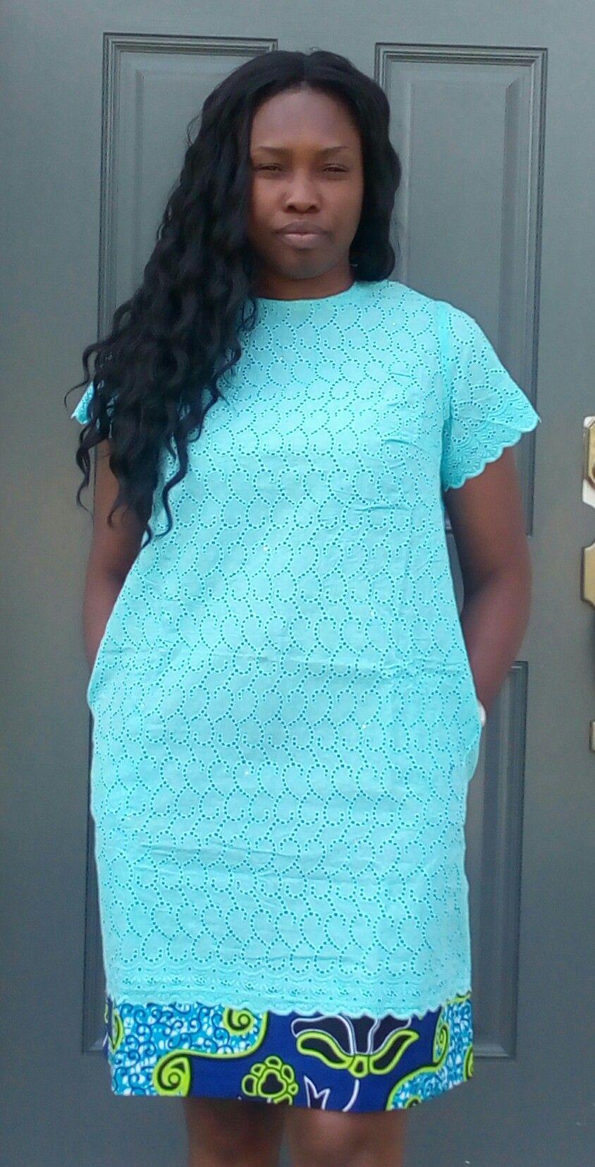 Modele de robe courte en pagne avec dentelle